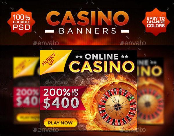 Perfect Casino Banner Design Set