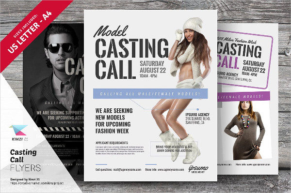 Casting Call Auditions Flyer Template