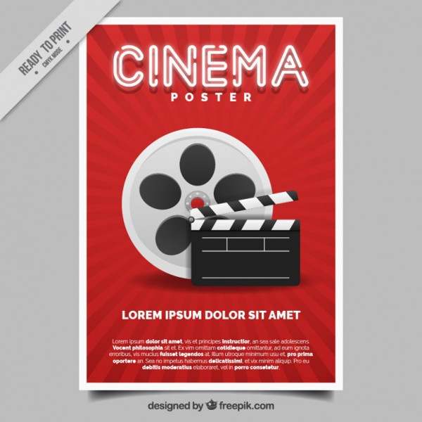 Casting Movie Poster Free Vector