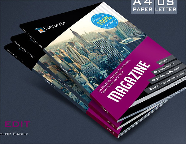 Ready to Print Education Magazine Template