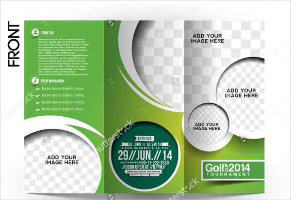 Golf Trifold Brochure Template