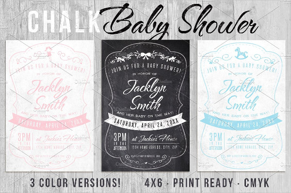 Chalk Baby Shower Invite