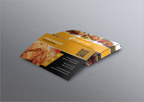 Free Restaurant Business Card Template Download