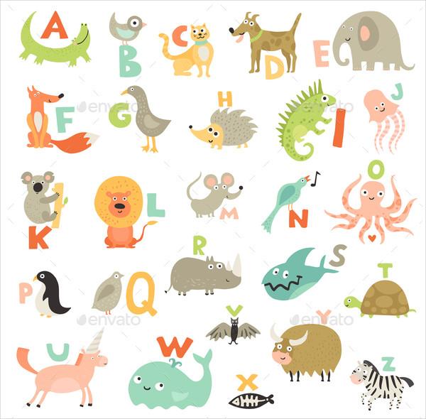 Children Alphabet Letters Set