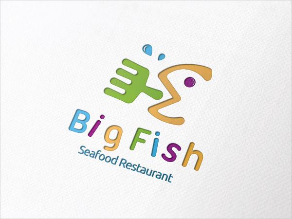 Seafood Restaurant Logo Template