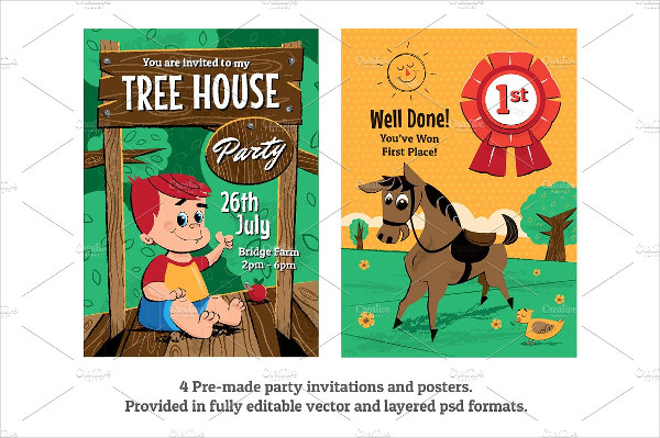 Children's Birthday Party Posters