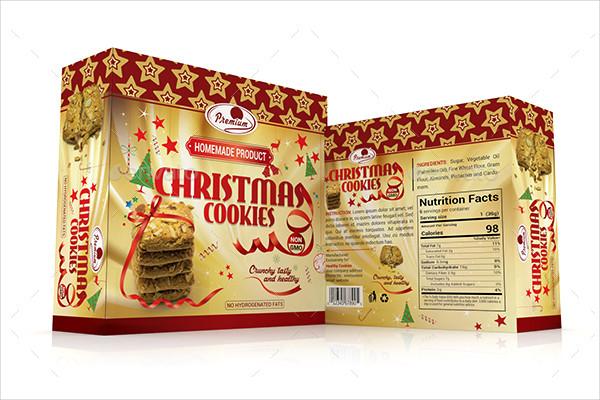 Christmas Cookies Gift Box Template