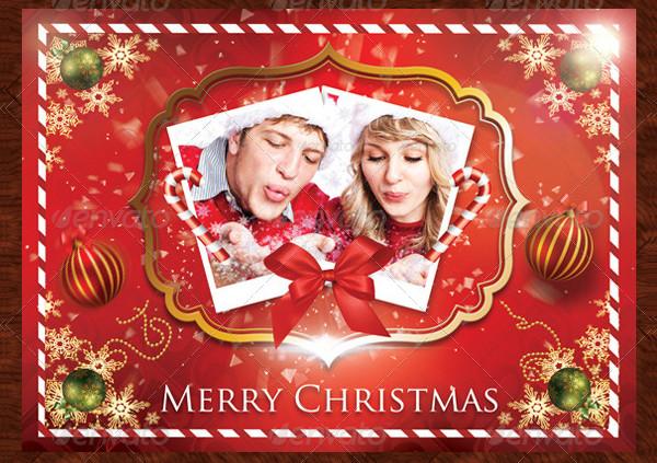 Christmas Holiday Photo Postcard Template