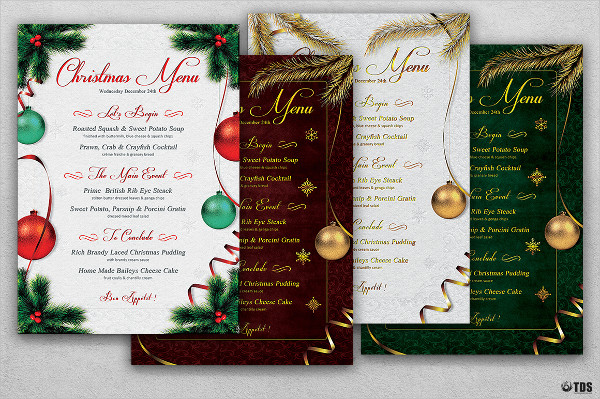 Christmas Menu PSD Template