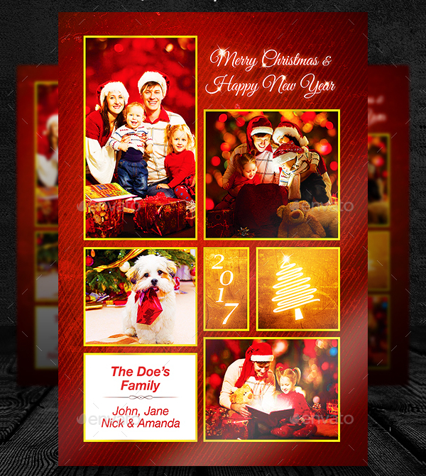 Christmas Photo Cards Template
