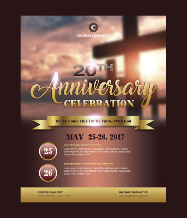 Church Anniversary Celebration Flyer Free