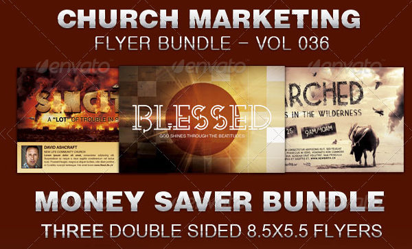 Church Marketing Flyer Templates Bundle