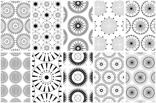 Circular Patterns Set of Fabric