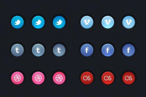 Circular Social Button Pack