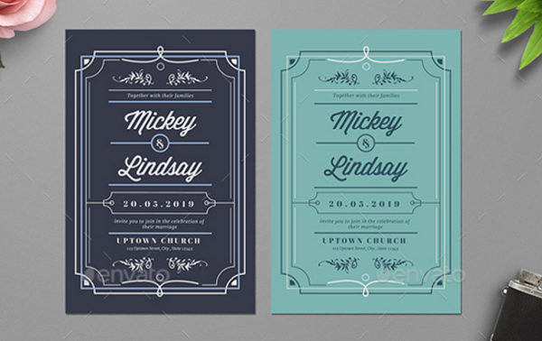Classic Wedding Card Templates