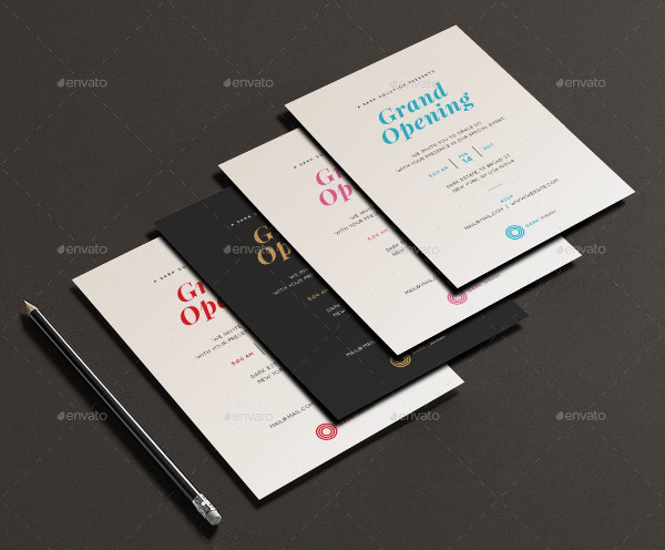 Clean Invitation Cards