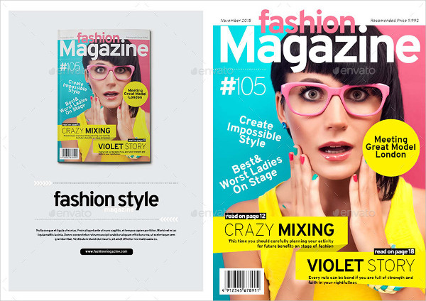 Clean & Professional InDesign Fashion Magazine Template