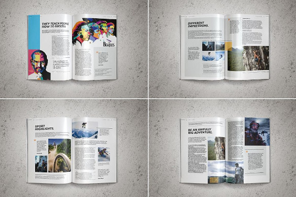 Clean Sports Magazine Templates