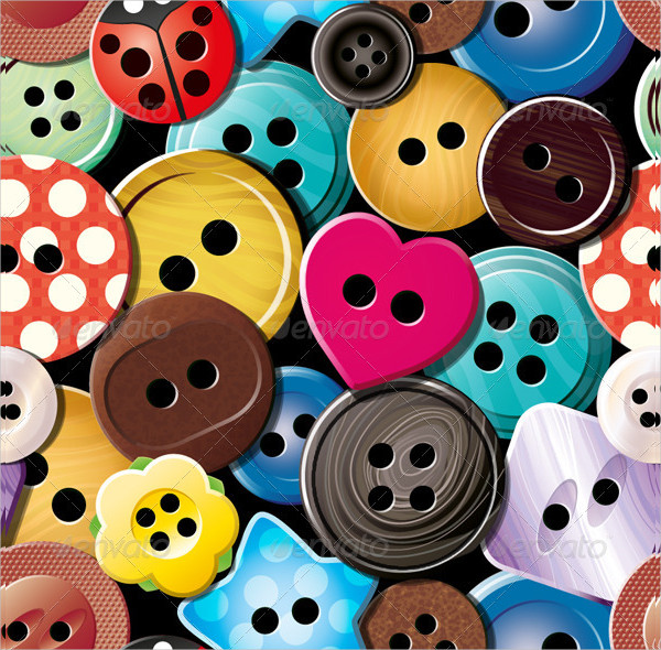 Clothes Buttons Seamless Pattern