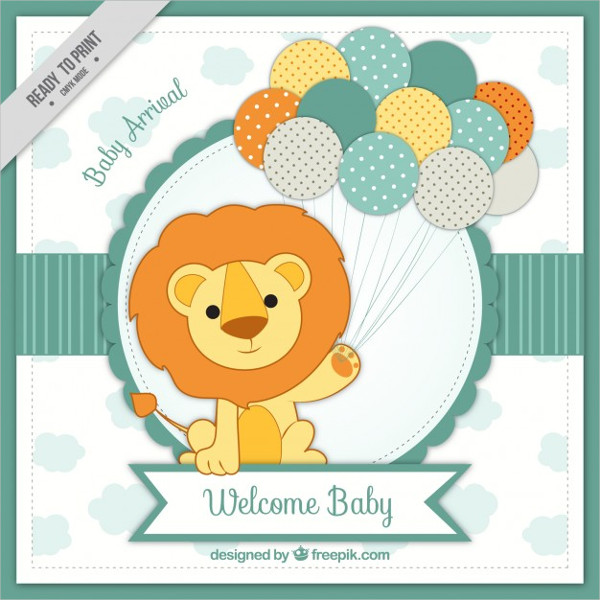 Free Baby Arrival Card Template