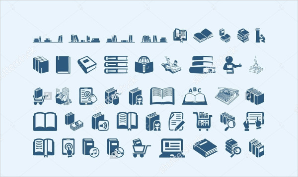 Clean Library Icon Set