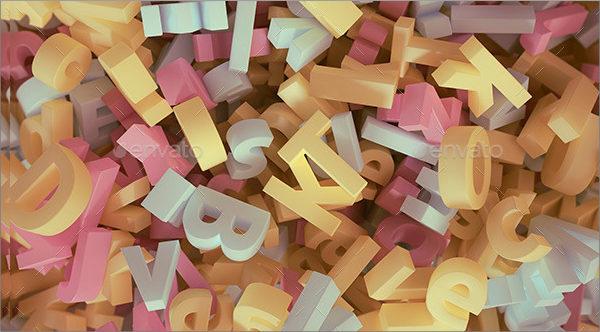 Colorful Alphabet Upper Case Letter Templates