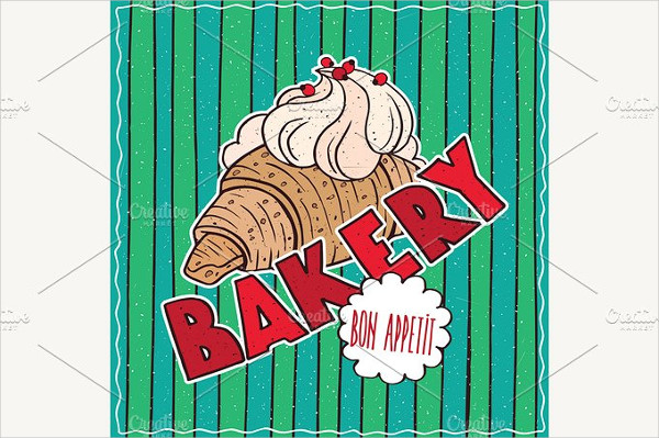 Colorful Poster for Bakery Shop
