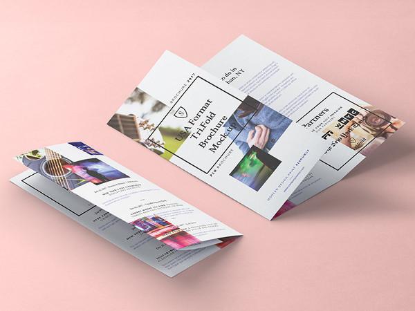 Colorful Brochure Tri-Fold Mockup Free