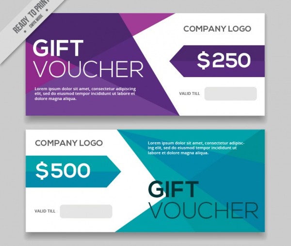 Colorful Business Gift Coupons Free
