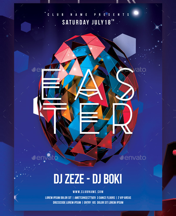Colorful Easter Posters Template