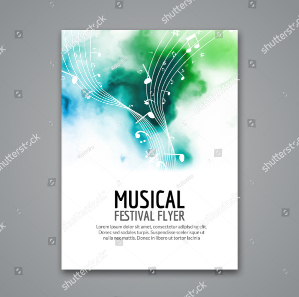 Colorful Music Concert Flyer Template