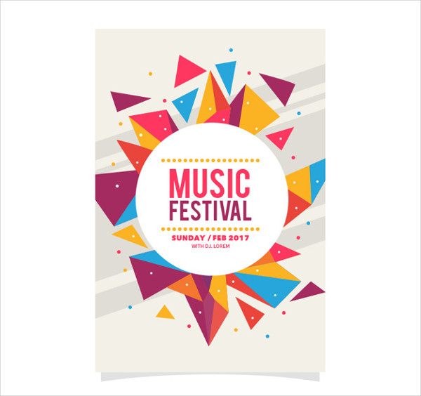 Colorful Music Party Flyer Template Free