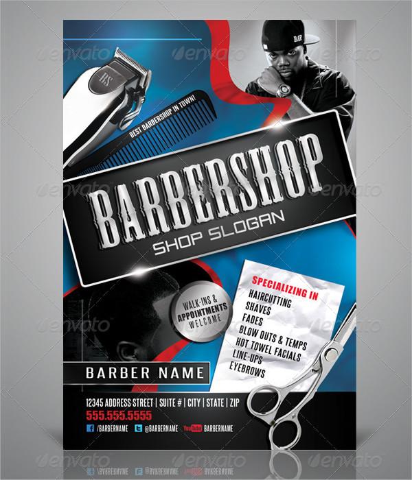 Print Ready Barbershop Flyer Design