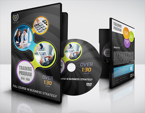 Corporate Company CD Cover and Label Template