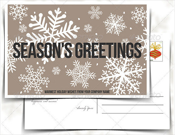 Company Holiday Postcard Template