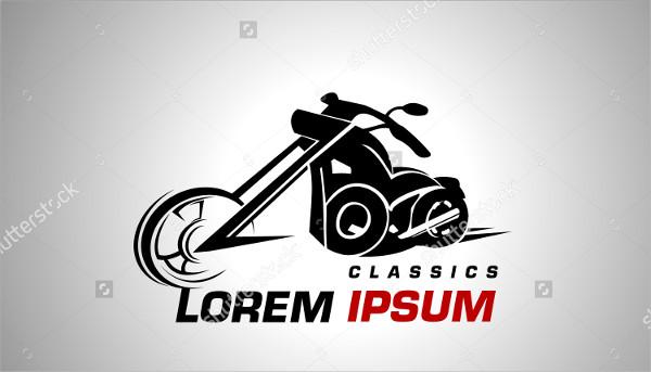 Stylish Motorcycle Icon Vector