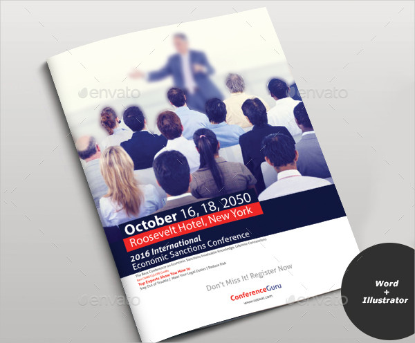21 conference brochure templates free premium download