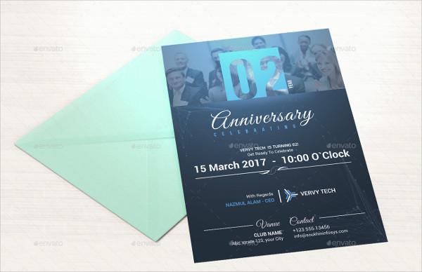 Corporate Anniversary Invitation Card Template
