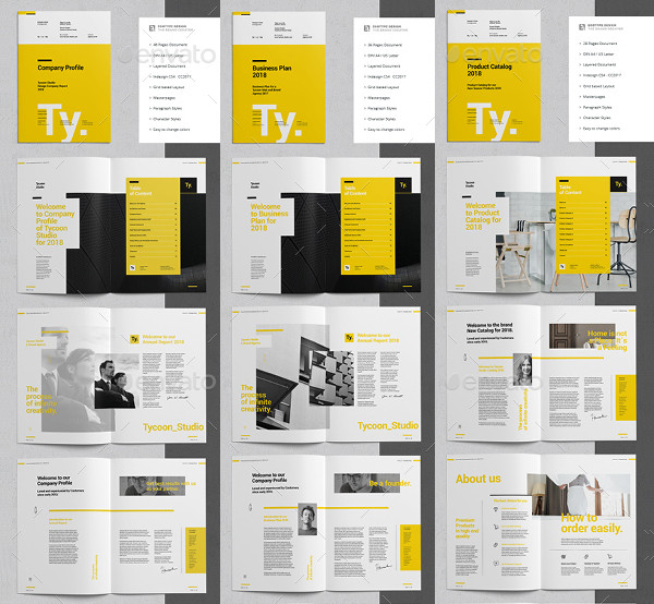 Corporate Business Annual Report Templates