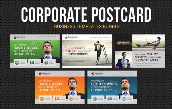 Corporate Business Postcards Bundle
