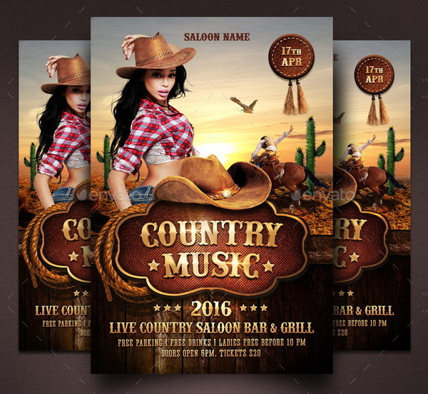 Country Music Flyer Template