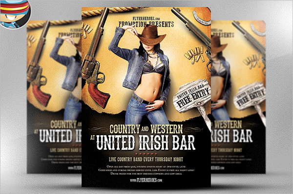 Country and Western Flyer Template