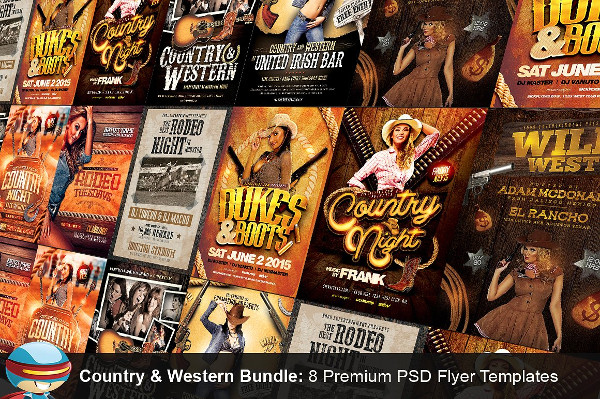 Country & Western PSD Flyer Bundle