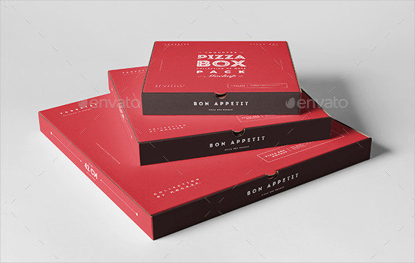 Easy to Edit Pizza Boxes Mockup