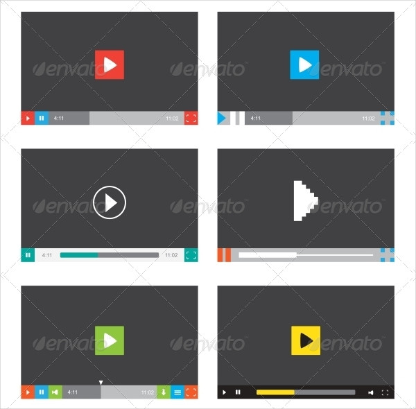 Creative Flat Design with Buttons and Icons
