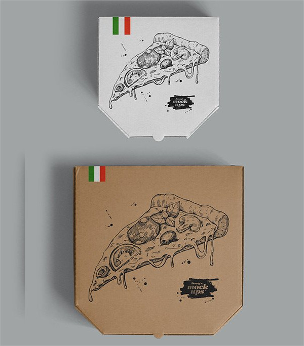 Unique Pizza Box Mock-Up