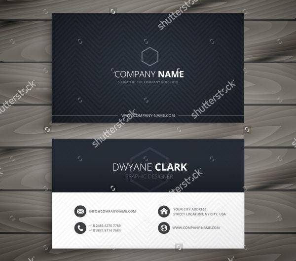 Clean Dark Business Card Template