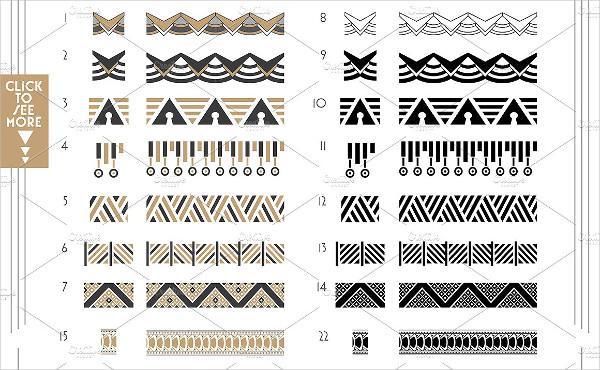 Deco Geometric Patterns & Brushes