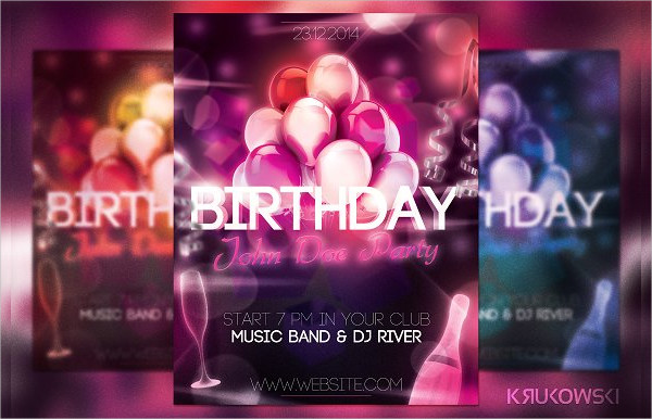 Decorative Birthday Flyer Template