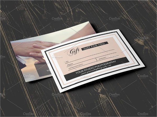 Printable Photography Gift Certificate Template